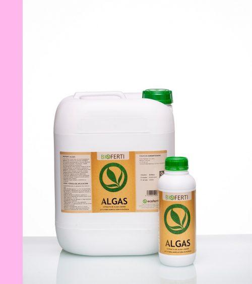 BIOFERTI ALGAS es un extracto natural de algas (Ascophyllum nodosum) al 28% que favorece los procesos fisiológicos de las plantas. Su aplicación es muy recomendable para el correcto desarrollo del cultivo en floración, fecundación, cuajado, así como para la calidad de la cosecha.