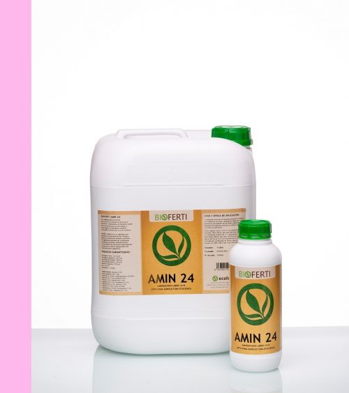 BIOFERTI AMIN 24 es un producto completamente natural que contiene CBPs (Complejos biológicos Peptídicos) naturales. | Un producto de Ecoferti ®