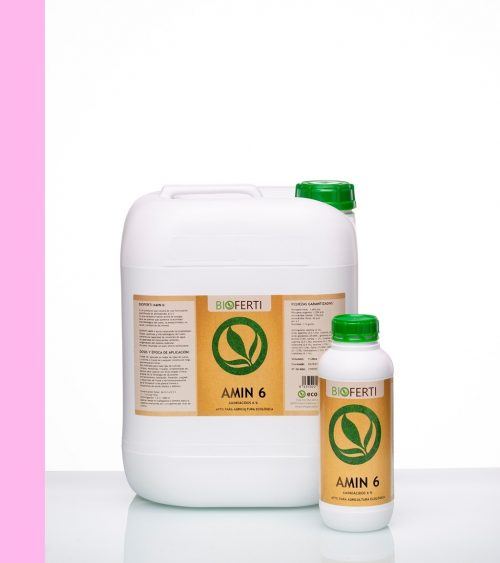 BIOFERTI AMIN6 es un producto que resulta de una formulación equilibrada de aminoácidos al 6 % | Un producto fabricado por Ecoferti ®