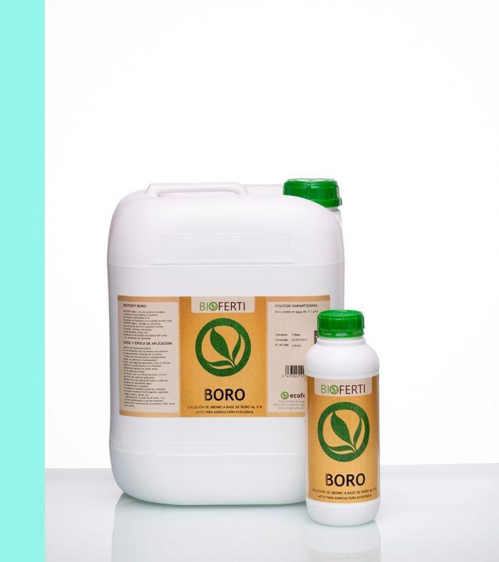 BIOFERTI BORO es un biol-abono de boro, que aporta a la planta este elemento de manera asimilable.
