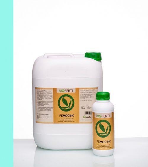 BIOFERTI FeMoCINC es una mezcla perfectamente equilibrada para la gran mayoría de los cultivos, utilizada en el control preventivo y curativo de estados carenciales simples o triples de hierro, cinc y molibdeno.