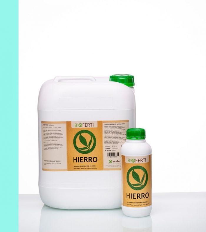 BIOFERTI HIERRO genera autodefensas en las plantas ante eventos climáticos adversos como altas temperaturas, heladas, excesos de precipitaciones, etc. Funciona muy bien en suelos con pH alcalino y con deficiencias de hierro.